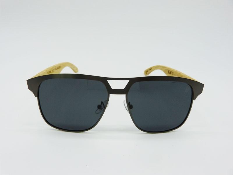 bf8405ce4 Óculos de Sol Masculino VEZATTO Preto Bambu Polarizado Metal 1210P-POL