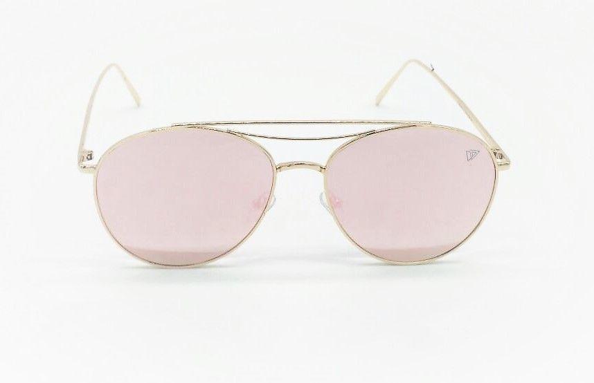 958d81c050879 Óculos de Sol VEZATTO Feminino Dourado Rosa Flat Aviador Espelhado FY8036 C7
