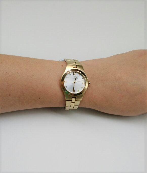 5e557cedf45 ... Relógio Champion Feminino Aço Dourado Visor Prata CN25467W- BRINDE ...
