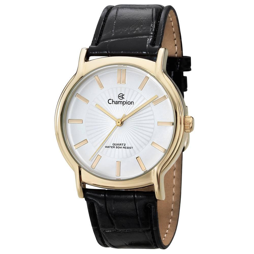 232dfd7eaf0 Relógio Champion Dourado Pulseira Couro CH22680M - VEZATTO