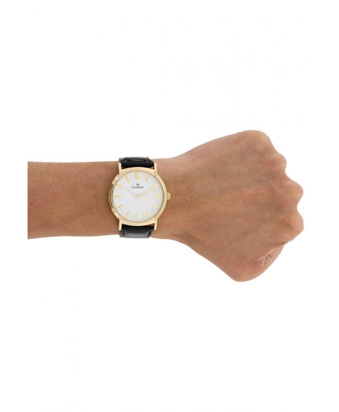 93f617e6454 Relógio Champion Dourado Pulseira Couro CH22680M - VEZATTO