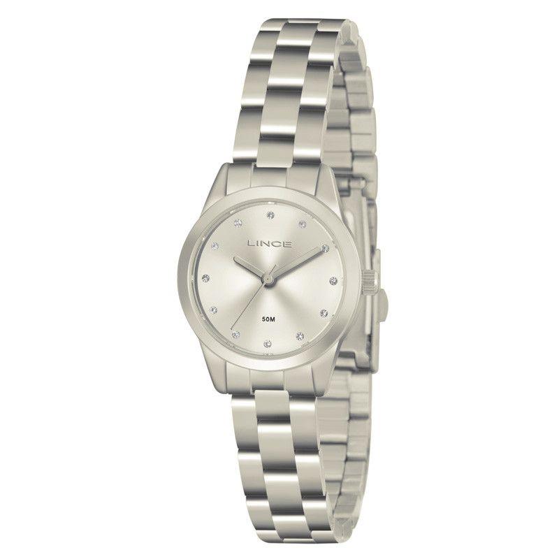 daba0cd1947 Relógio Lince Feminino Pequeno Aço Prata Visor LRM4435L S1SX - VEZATTO