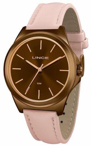 9f953e95389 Relógio Lince Feminino Rosê Couro Rosa Marrom LRC4448L M1RX - VEZATTO