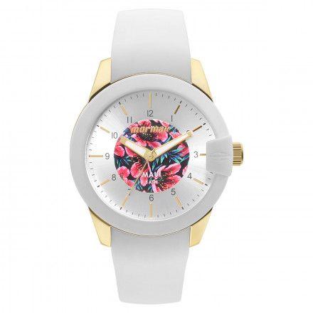 776235d205b Relógio Mormaii Feminino Branco e Dourado Silicone MO2036IJ 8B - VEZATTO