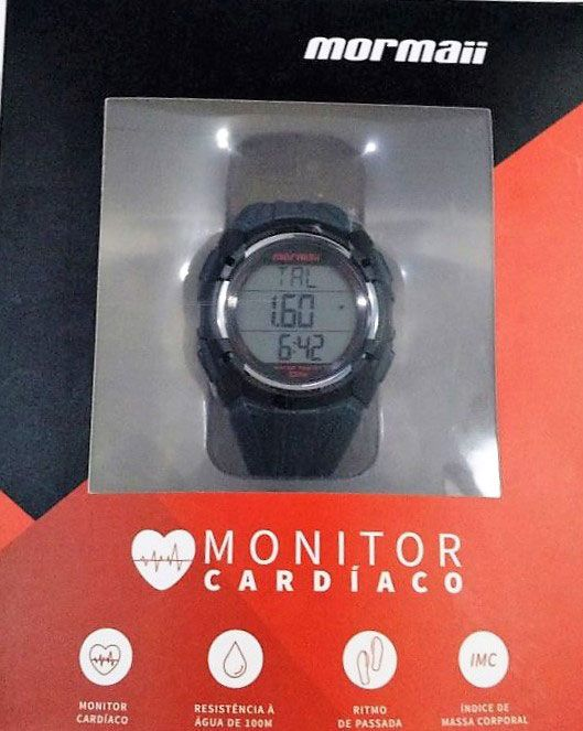 Relógio Mormaii Monitor Cardiaco Cinza MO11558A 8R - VEZATTO eda5572f81
