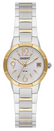 8d64c322bff Relógio Orient Feminino Pequeno Aço Prata e Dourado FTSS1098 S2SX ...