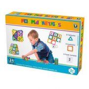 Formas Magnética Blocos Magnéticos Brinquedos Educativos de Plástico Para Crianças Peças Com imãs de neodímio