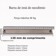 Imã De Neodímio De Alta Potencia 40kg Barra Magnética 12cm