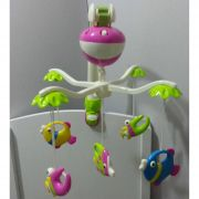 Mobile Musical Giratório Brinquedo Para Berço Carrinhos, Chiqueirinhos