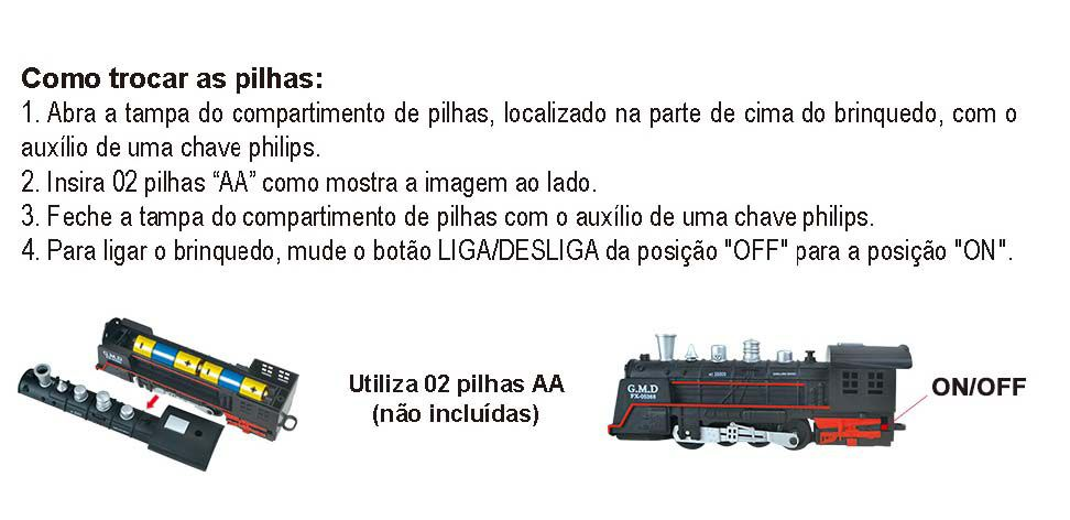 Ferrorama Trem A Pilhas Máquina Locomotiva Pista Luz E Som