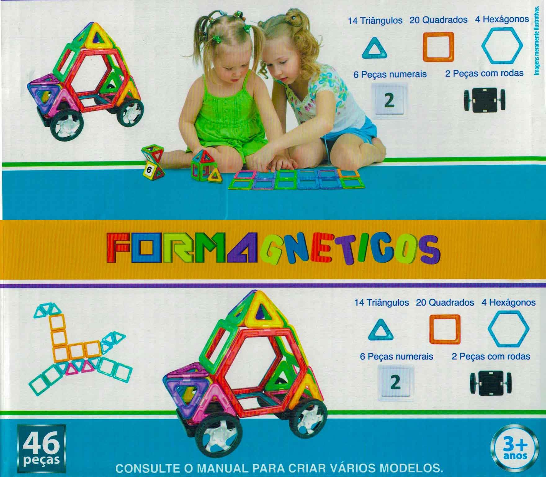 Formas Magnética, Blocos Magnético Brinquedo Educativo Com imãs de neodímio