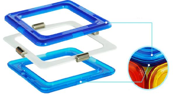 Formas Magnética Blocos Magnético Brinquedo Educativo Para Crianças Peças Com imãs de neodímio