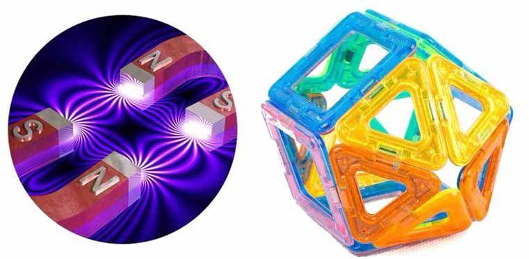 Formas Magnética, Blocos Magnéticos Brinquedos Educativos de Plástico Para Crianças Peças Com imãs de neodímio
