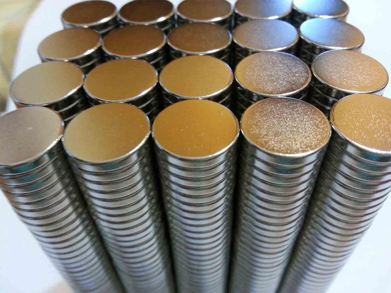 Imã De Neodímio 12,5mm X 2mm , 100 Peças - Super Forte