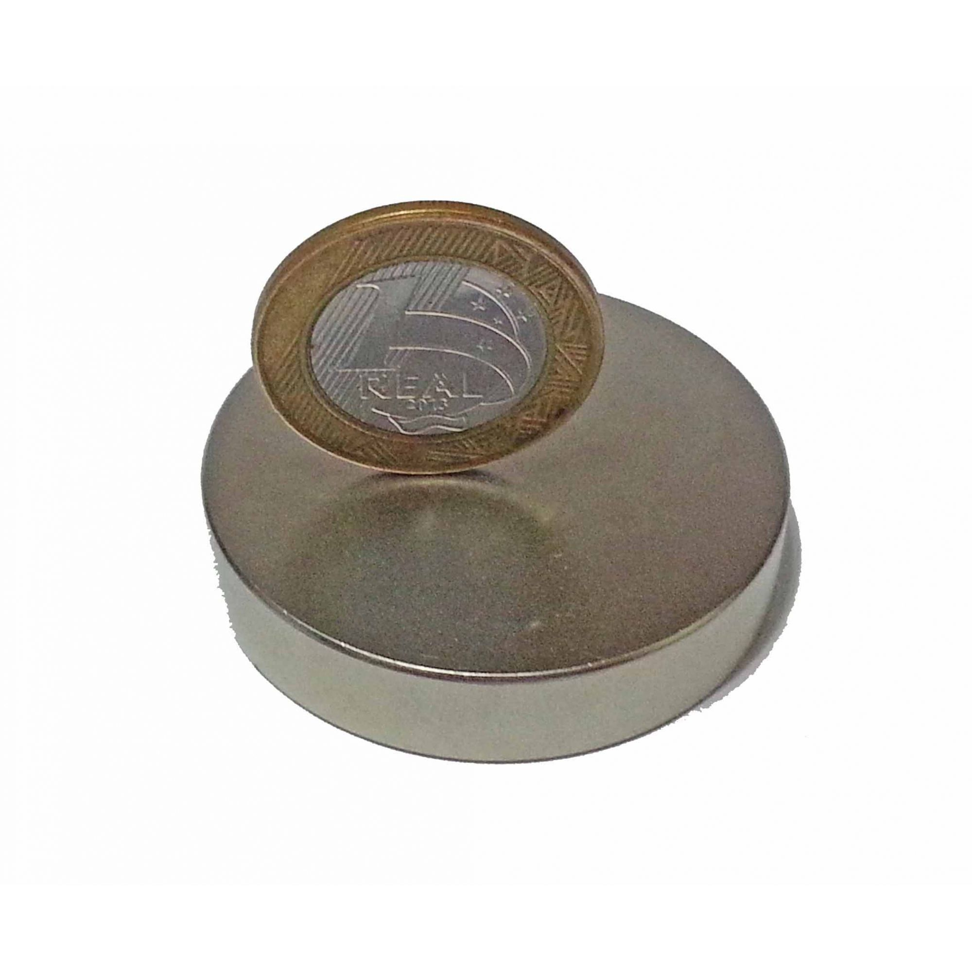 Imã De Neodímio 48mm X 10mm  1 Peça - imã super forte