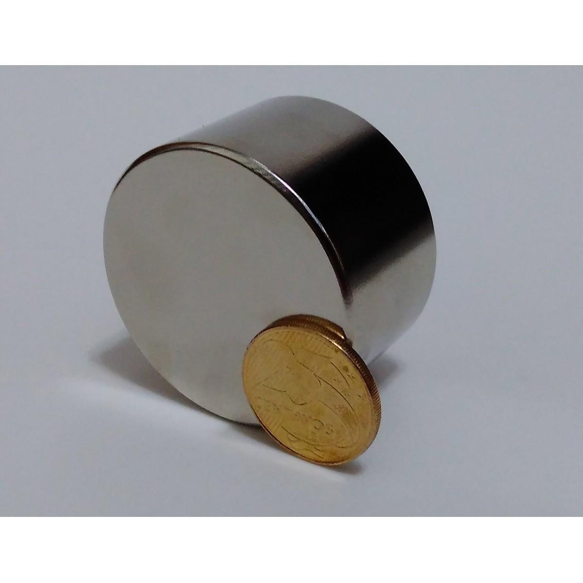 Ima De Neodímio 50,8mm X 30mm Grau N50 Super Forte