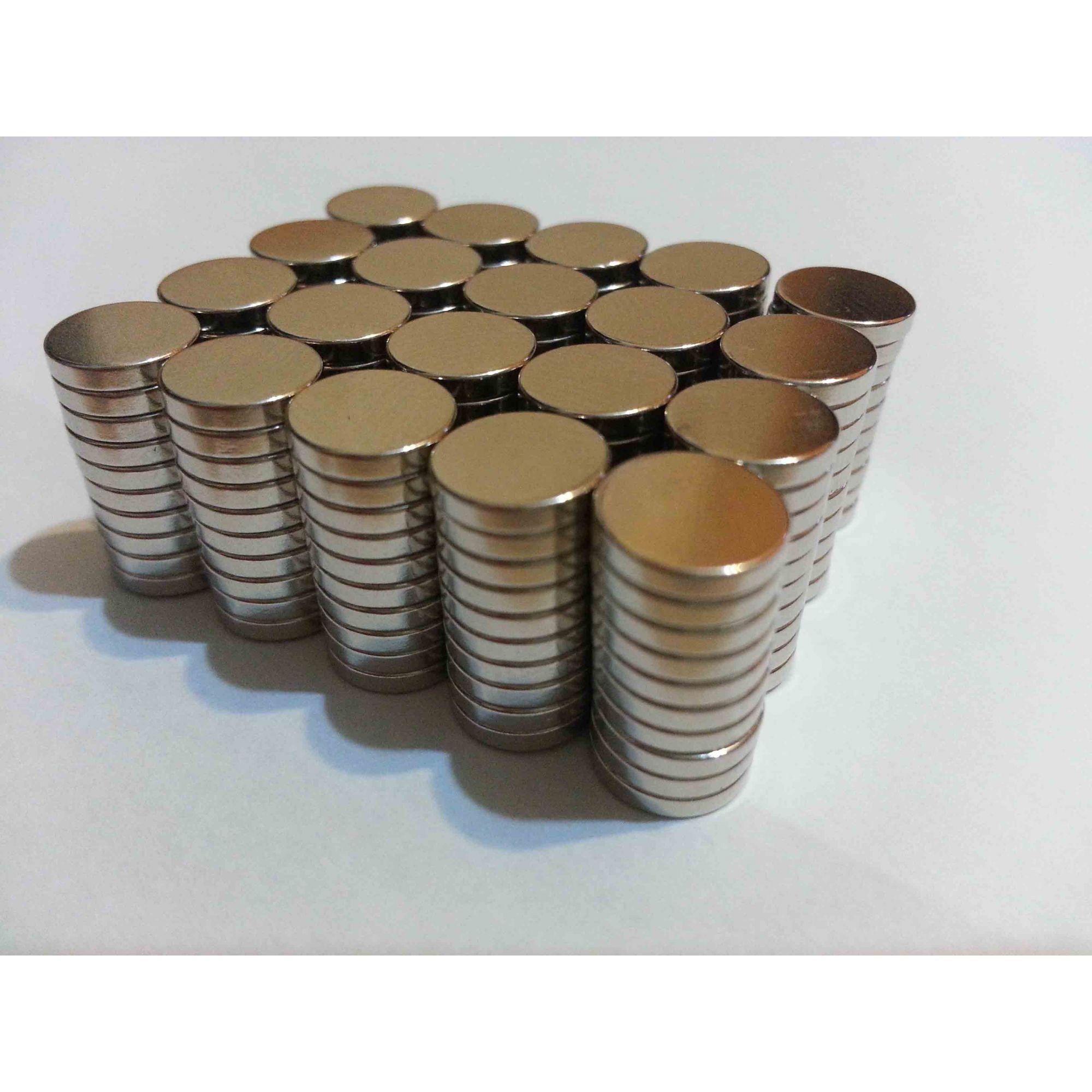 Imã De Neodímio 50 Peças - 8mm X 1,5mm - Super Forte