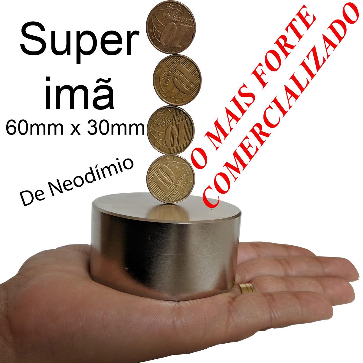 Ima De Neodimio 60mm X 30mm O Maior Imã Super Forte