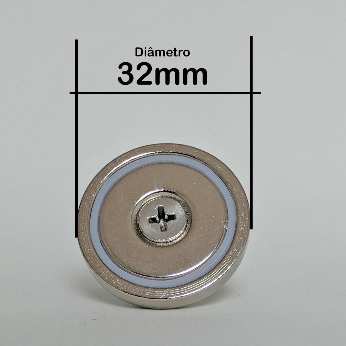 Imã De Neodímio Fixador Pesca Magnética Até 30 Kg De Tração