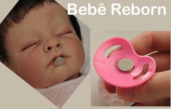 50 Imas De Neodímio Para Chupetas de Boneca Bebe Reborn  12,5mm X 2mm