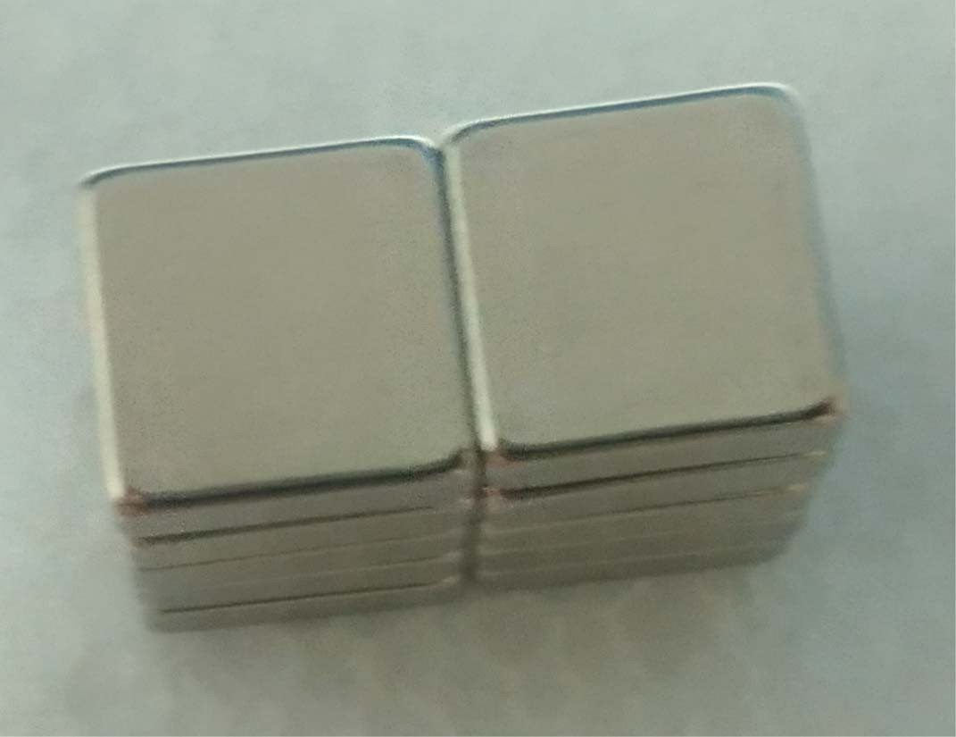 Imã De Neodímio / Super Forte / 10mm X 10mm X 3mm _ 10 Peças