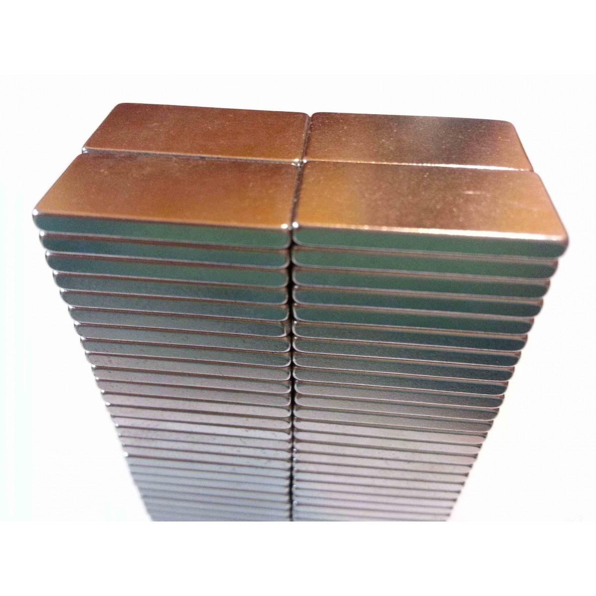 Imã De Neodímio / Super Forte / 20mm X 10mm X 2mm , 10 Peças