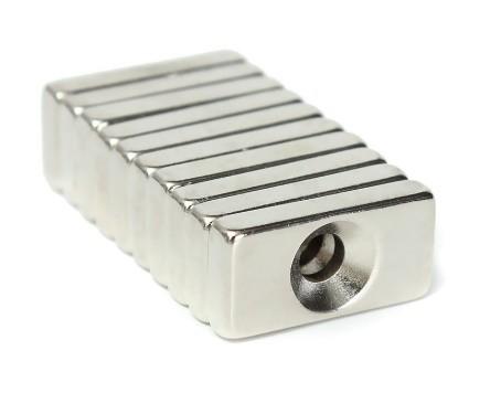 Imã De Neodímio / Super Forte / 20mm X 10mm X 4mm , 1 Peça