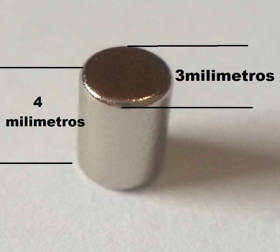 Ima De Neodímio / Super Forte / 3mm X 4mm - 50 Peças