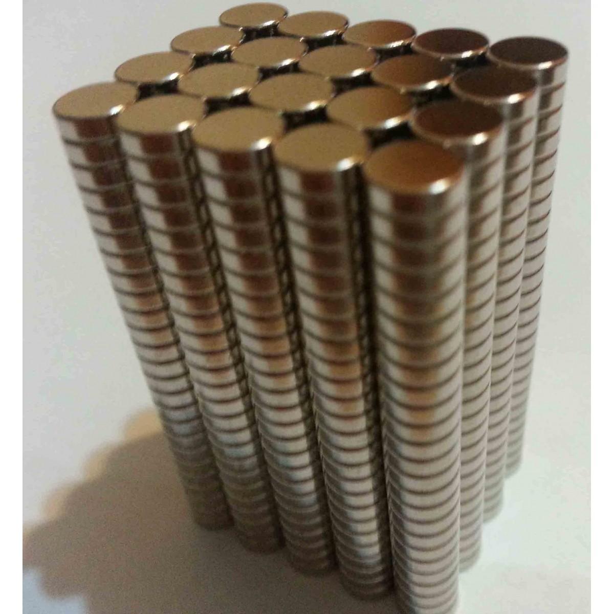 Imãs De Neodímio / Super Forte / 5mm X 1,5mm * 500 Peças