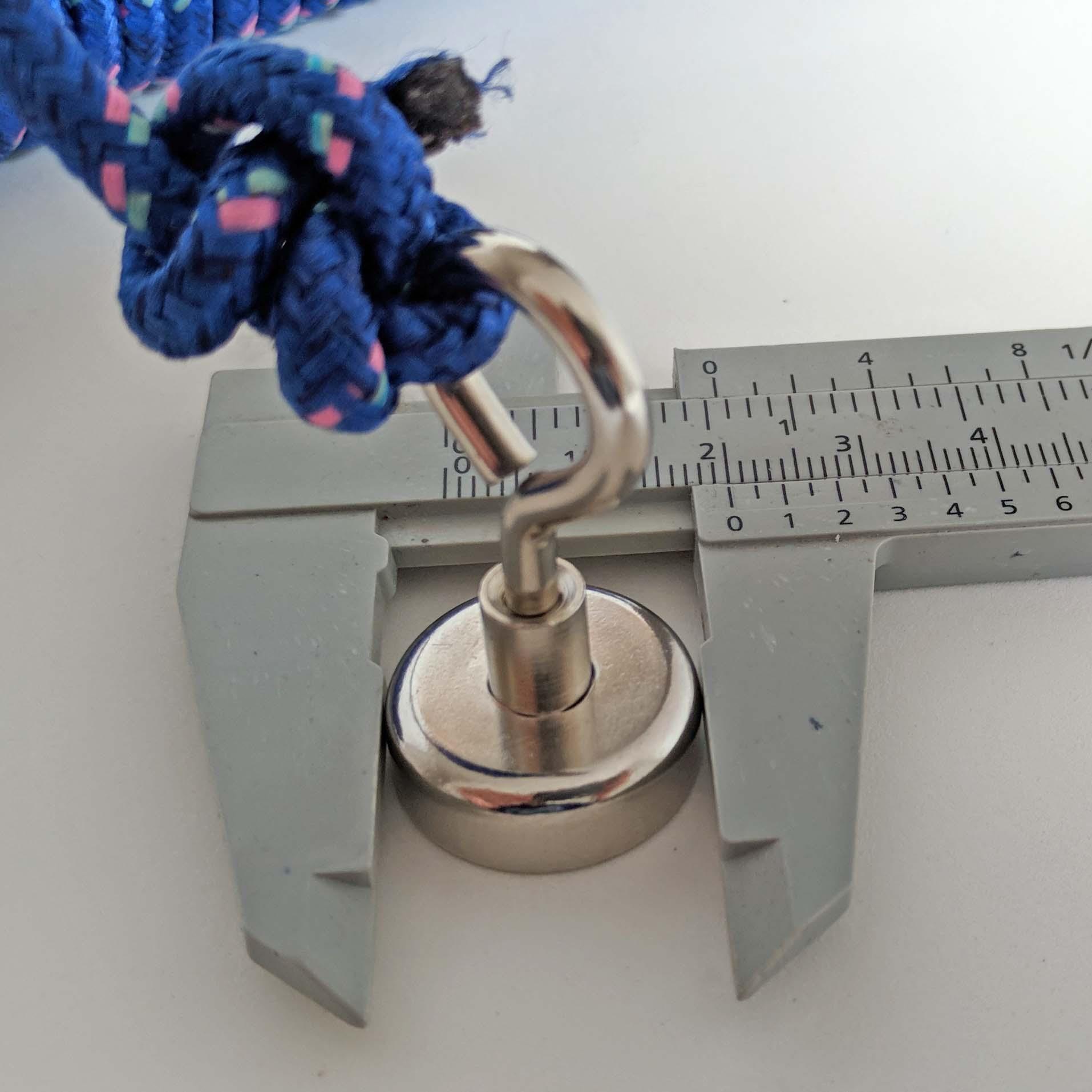 Imã pesca magnética 6Kg, imã fixador, ima de neodimio magnetismo