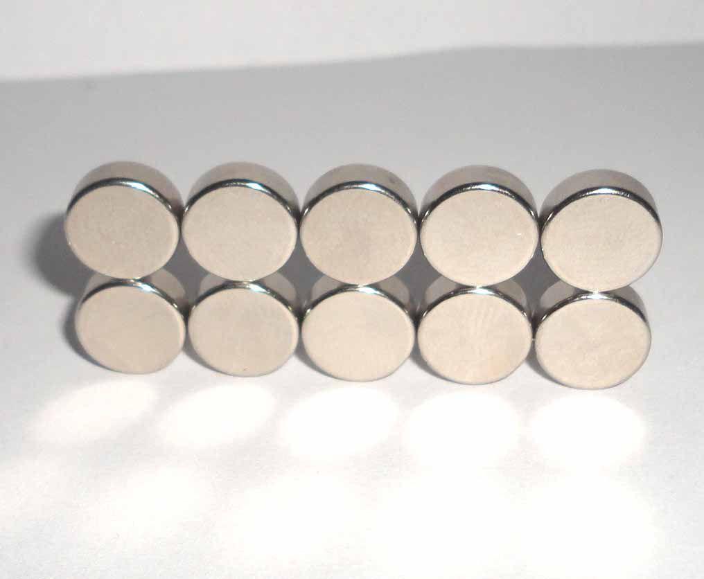 imas De Neodímio 10mm X 4mm , 10 Peças - imã super forte