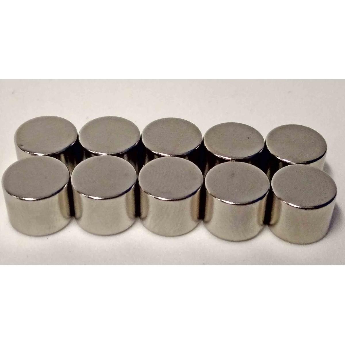 Imãs De Neodímio 10mm X 8mm - 50peças / Super Forte