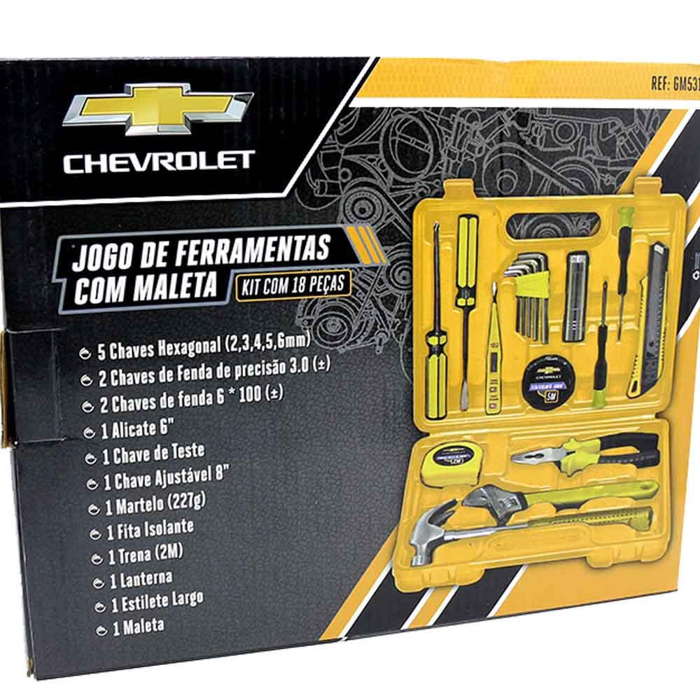 Maleta Ferramentas Profissional Completa Chevrolet Gm 18pçs