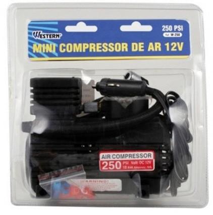 Mini Compressor De Ar 12v 250psi Calibrador De Pneu Elétrico