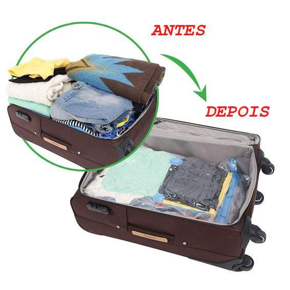 Saco Vacuo 100cm X 70cm Kit De 10 Unidades Bag Organizador