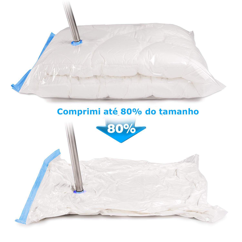 Saco Vácuo Protetor Organizador 100cm X 70cm - 5 peças