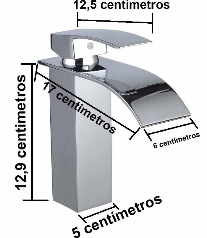 Torneira Baixa Cascata Slim Com Misturador Monocomando Metal