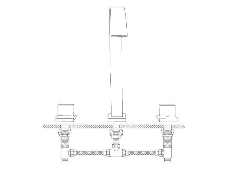 Torneira Misturador de Metal Banheiro Lavátorio Lavabo, Com Duplo Comando