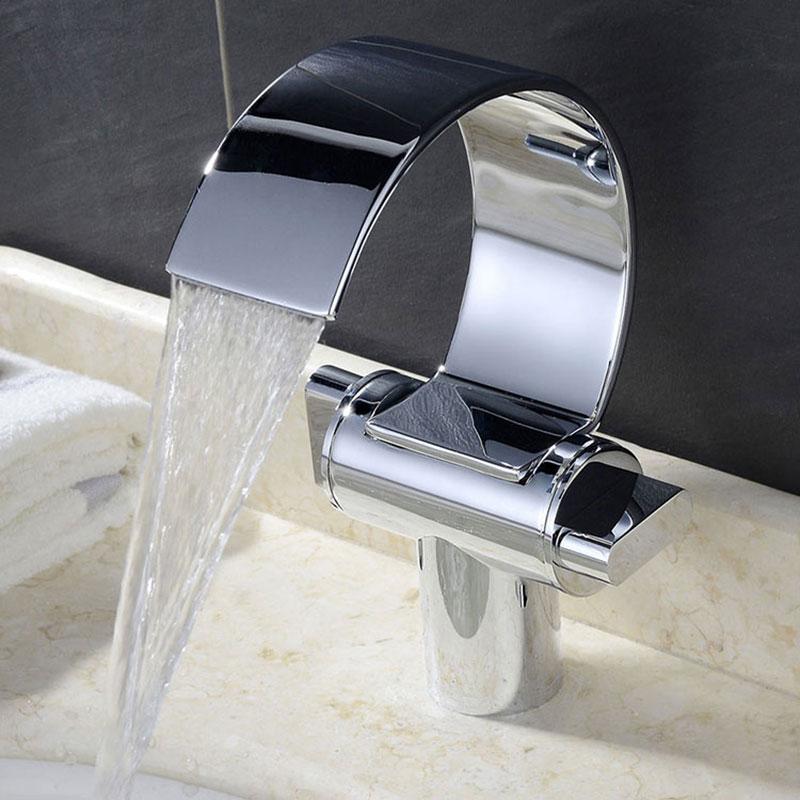 Torneira Misturador Lavatório Banheiro, Com Duplo Comando