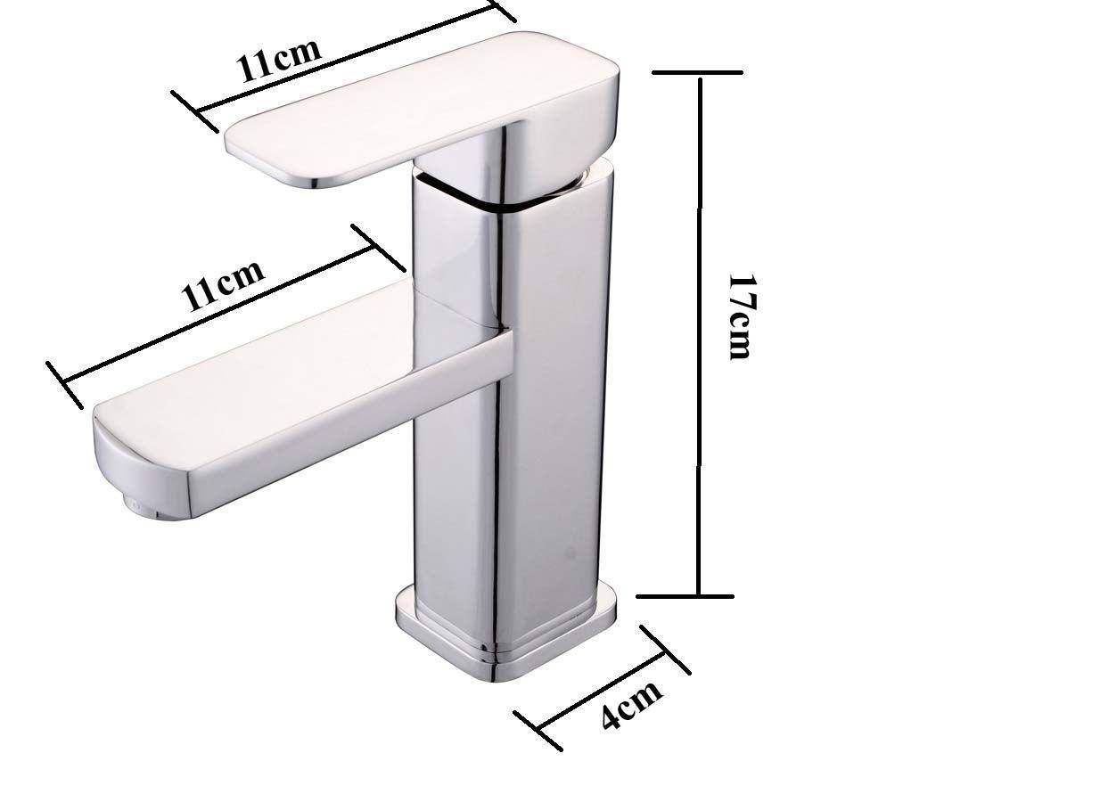 Torneira Monocomando Banheiro Metal Cromo Lavabo Misturador