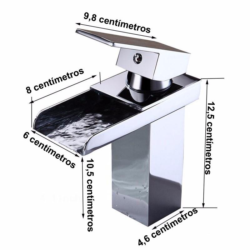 Torneira Monocomando Cascata Baixa Calha Metalica Cromado