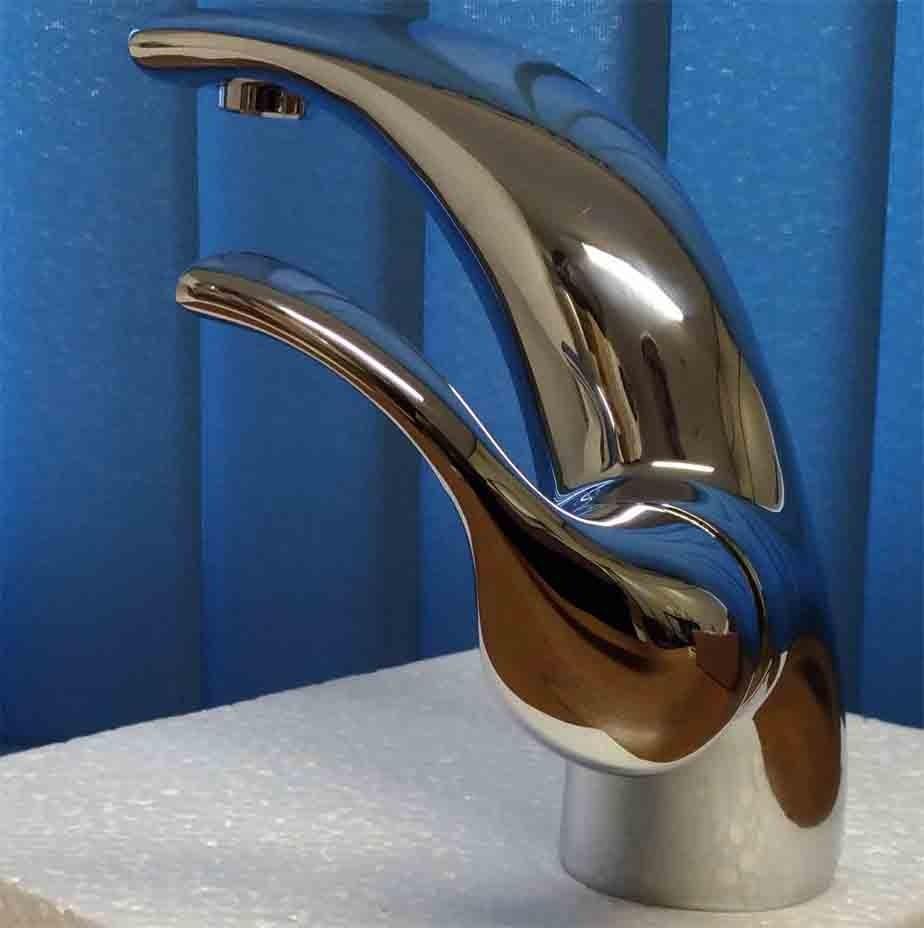 Torneira Monocomando Design Italiano Metal Misturado Cromado