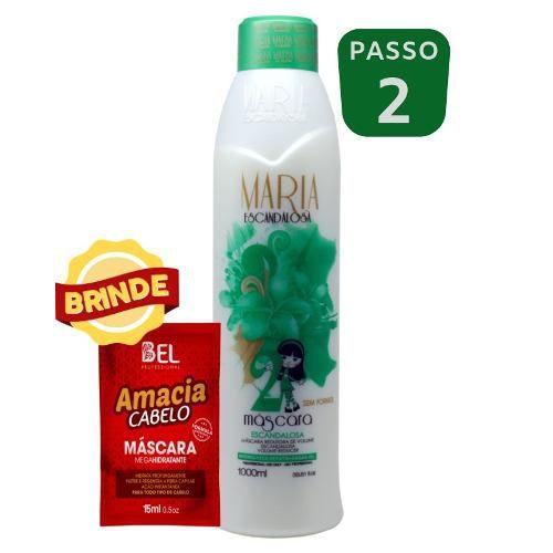 aa1162f11 Maria Escandalosa S/formol Passo 2 + Brinde - Original - Bel Hair Cosmeticos