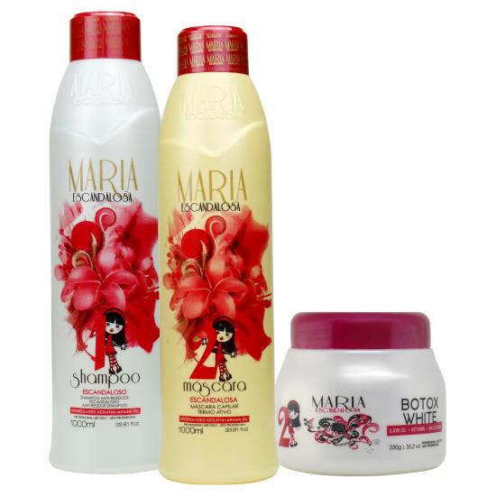 e7ffe0594 Maria Escandalosa Kit Progressiva 1l + Btox White 250g - Bel Hair Cosmeticos