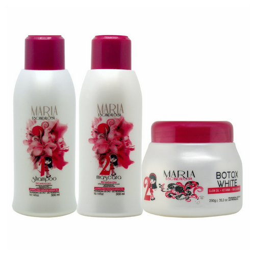 5073c705f Maria Escandalosa Kit Progressiva 300ml+ Btox White 250g - Bel Hair  Cosmeticos
