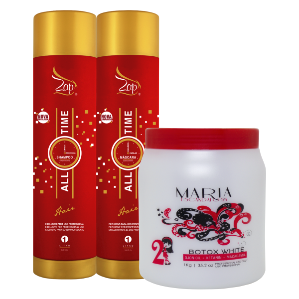 44b49a145 Zap Progressiva All Time+ Btox Maria Escandalosa White 1kg - Bel Hair  Cosmeticos