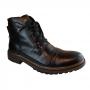 Bota Mega Boots Coturno Masculino Couro Casual Zíper