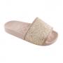 Chinelo Slide Infantil Menina Molekinha Glitter Casual