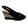 Sapato Aberto Feminino Salto Alto Anabela ComfortFlex