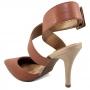 Sapato Feminino Scarpin Vizzano Salto Alto Fivela Social